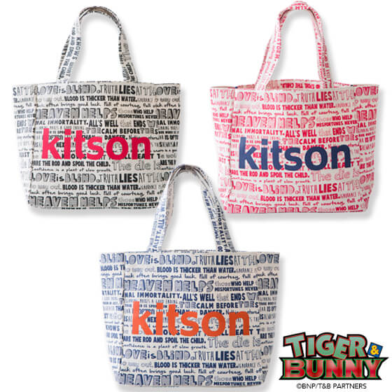 TIGER & BUNNY×kitson コラボトートバッグ(大) 『各話タイトル』