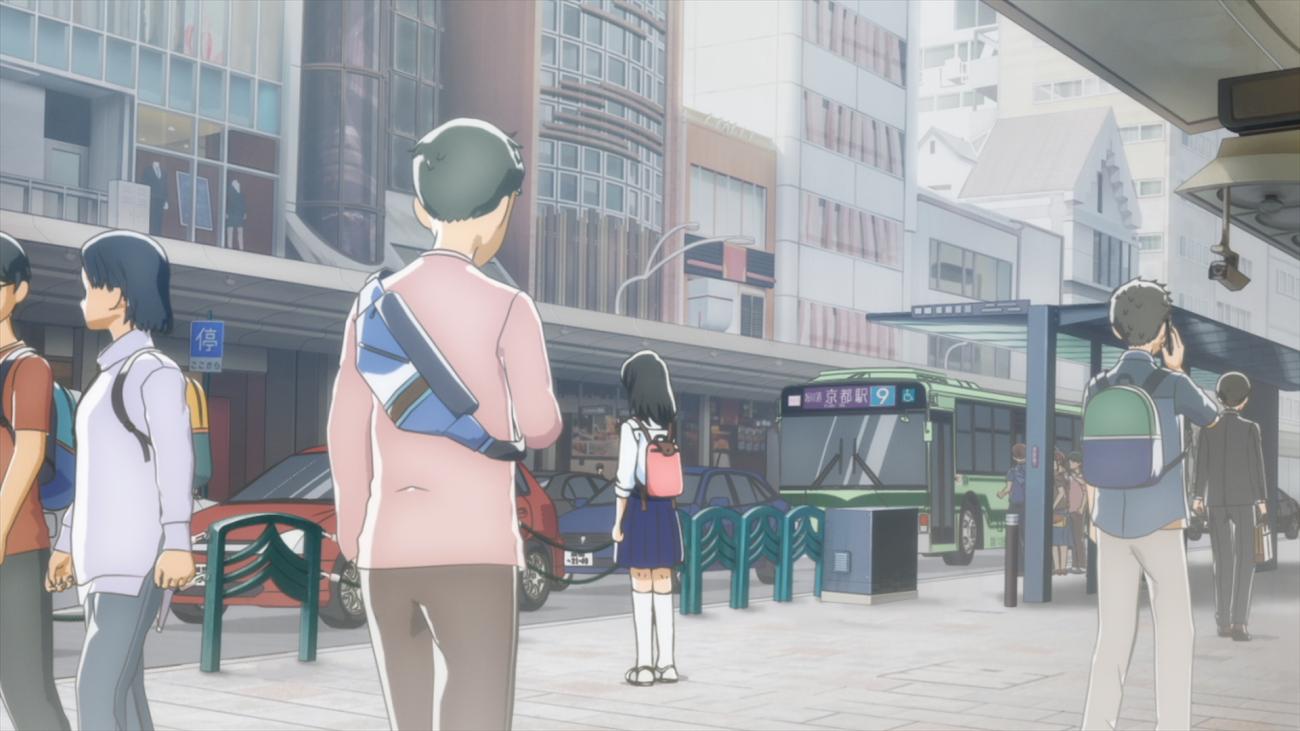 アニメ:大丸京都店正面入口の四条通り側